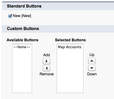 Account Buttons