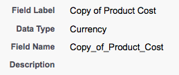 Copy of Product Cost